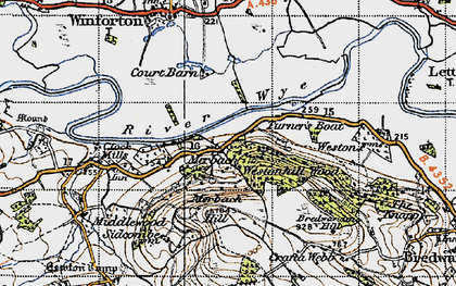 Old map of Westonhill Wood in 1947