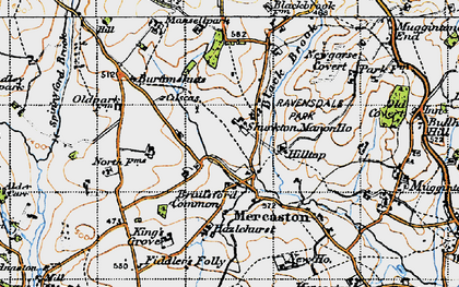 Old map of Mercaton in 1946