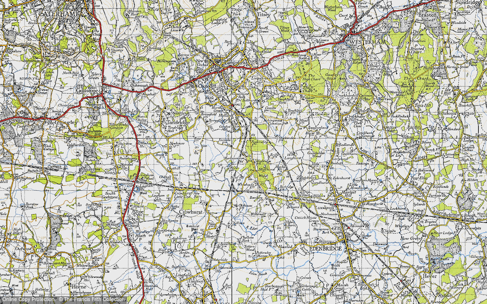 Old Map of Merle Common, 1946 in 1946