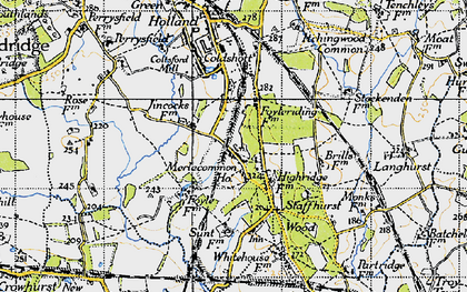 Old map of Merle Common in 1946