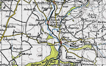 Old map of Merry Meeting in 1946