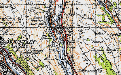 Old map of Merthyr Vale in 1947