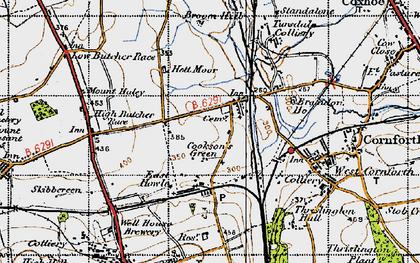 Old map of Metal Bridge in 1947