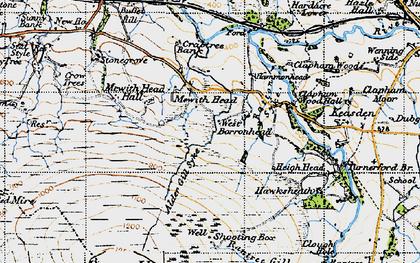 Old map of Alder Gill Syke in 1947