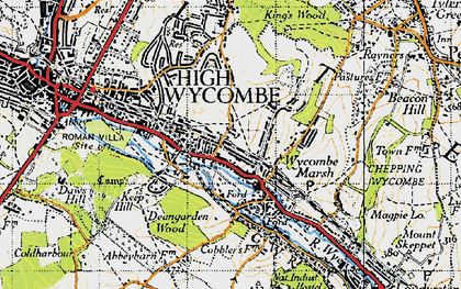 Old map of Micklefield in 1947