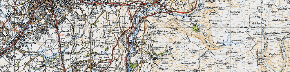 Old map of Abraham's Chair in 1947