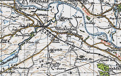 Old map of Bail Green in 1947