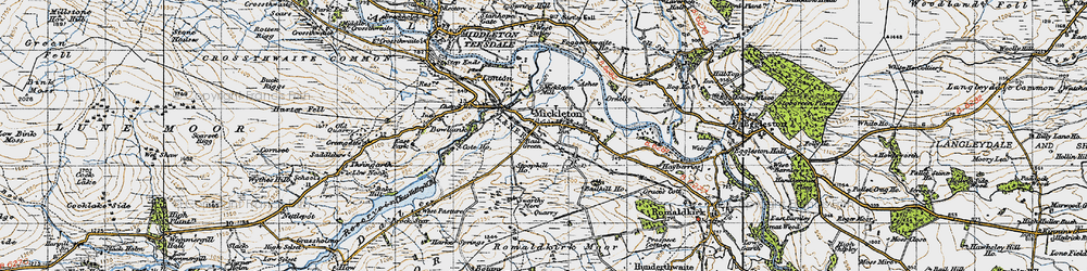 Old map of Mickleton in 1947