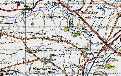 Old map of Bailey Brook in 1947