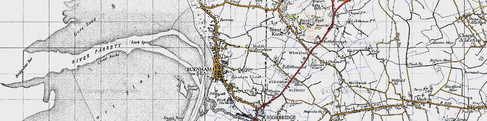 Old map of Applewithy Rhyne in 1946