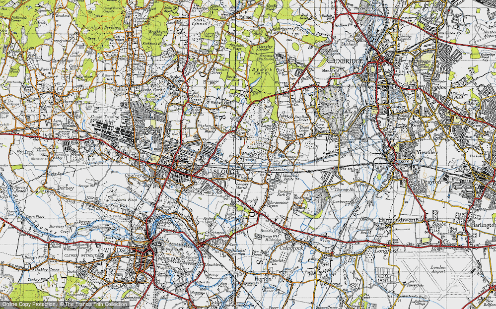 Old Map of Middle Green, 1945 in 1945