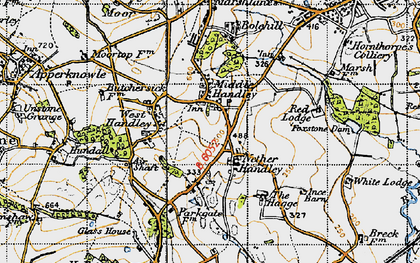 Old map of Middle Handley in 1947