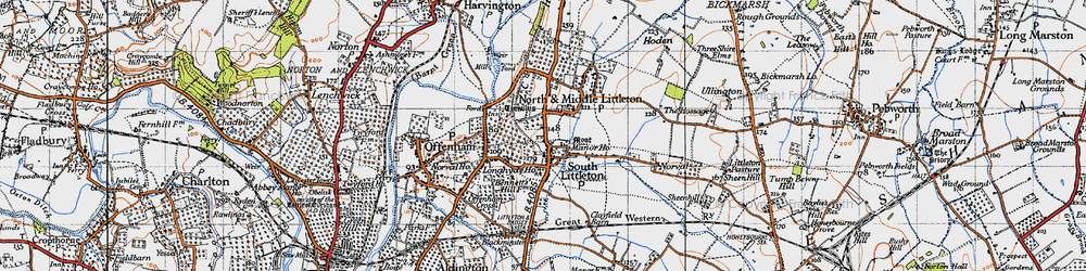 Old map of Middle Littleton in 1946
