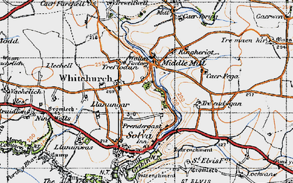 Old map of Middle Mill in 1946