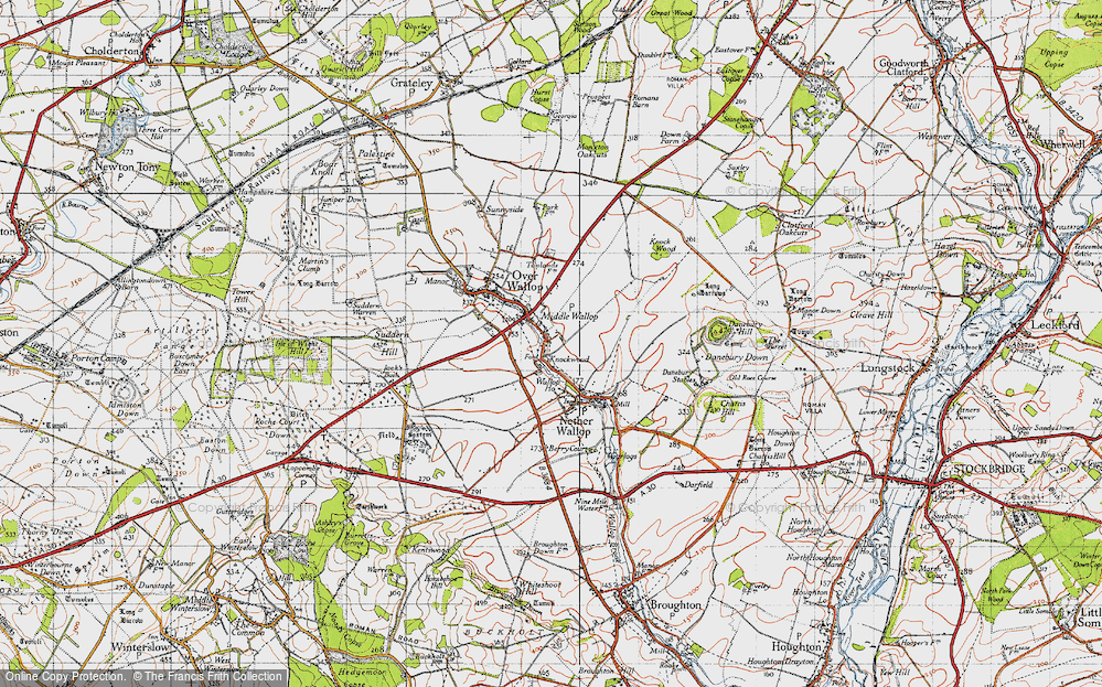 Old Map of Middle Wallop, 1940 in 1940
