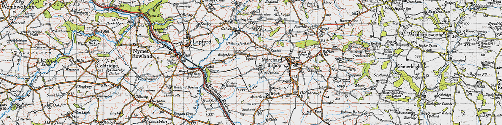 Old map of Wigham in 1946