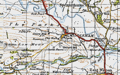 Old map of Williams Hill in 1947