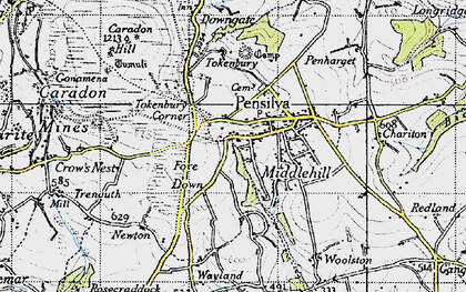 Old map of Middlehill in 1946