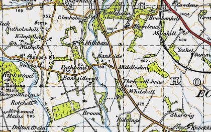 Old map of Bankside in 1947