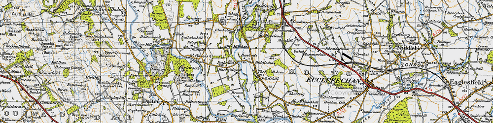 Old map of Yesket in 1947