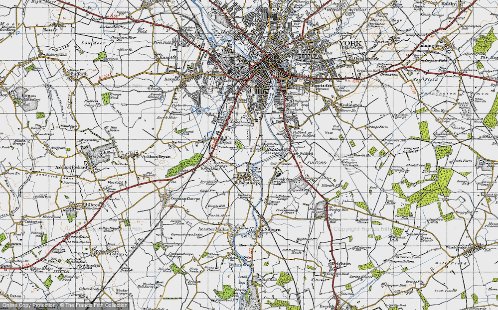 Old Map of Middlethorpe, 1947 in 1947