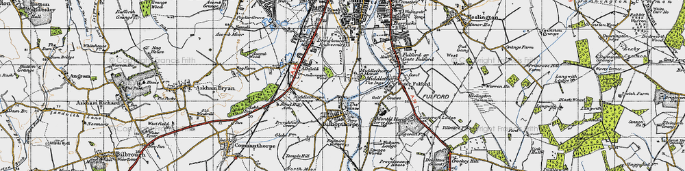 Old map of Middlethorpe in 1947