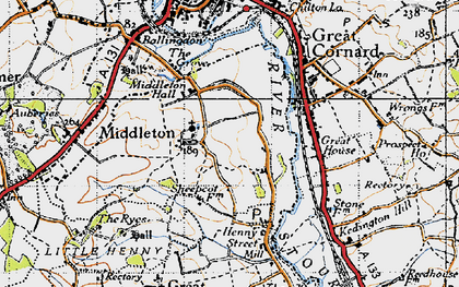 Old map of Middleton in 1946