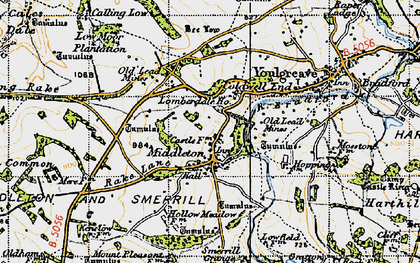 Old map of Arbor Low in 1947