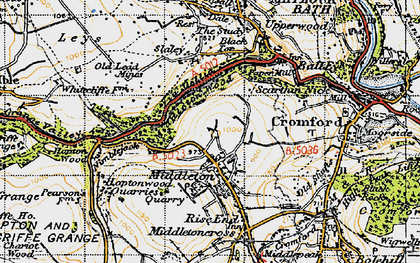Old map of Middleton in 1947