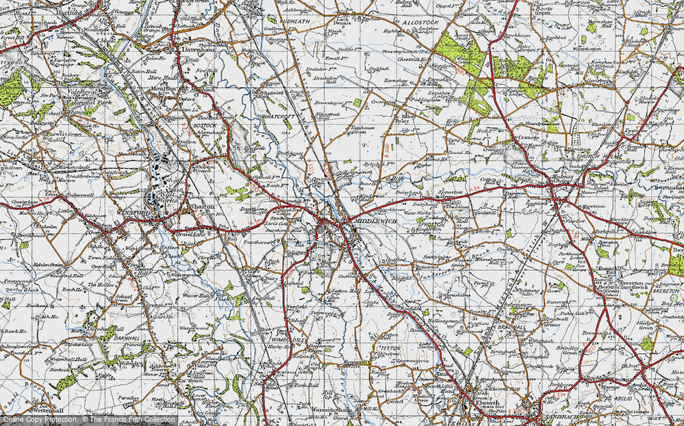 Old Map of Middlewich, 1947 in 1947