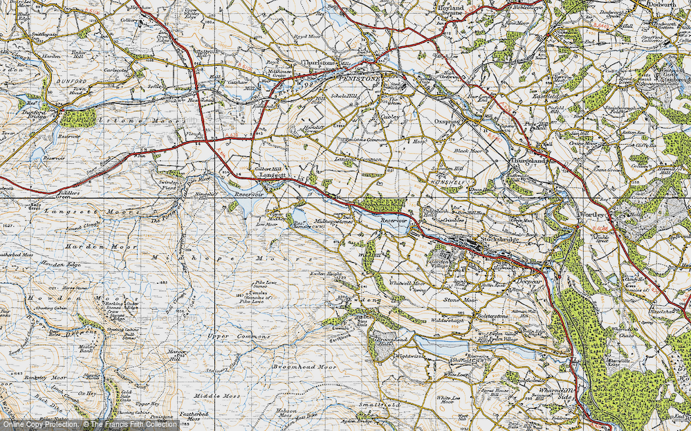 Old Map of Midhopestones, 1947 in 1947