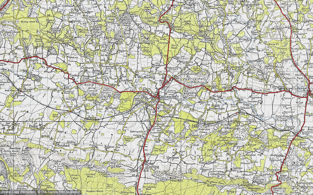 Old Map of Midhurst, 1945 in 1945