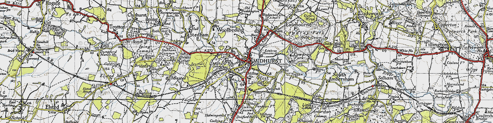 Old map of Midhurst in 1945