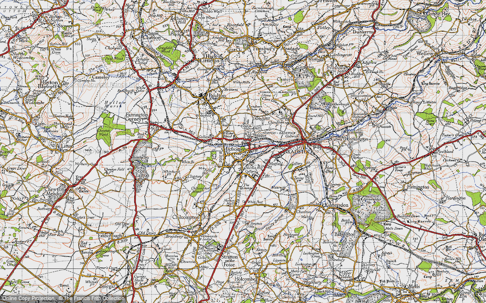 Old Map of Midsomer Norton, 1946 in 1946