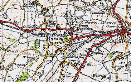 Old map of Midsomer Norton in 1946