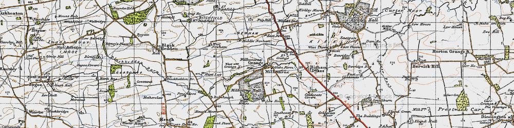 Old map of Westgate in 1947