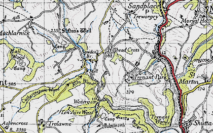 Old map of Milcombe in 1946
