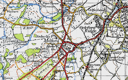 Old map of Milford in 1940