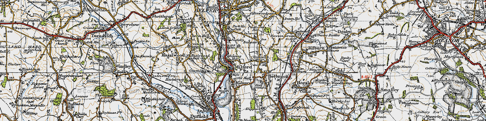 Old map of Milford in 1946