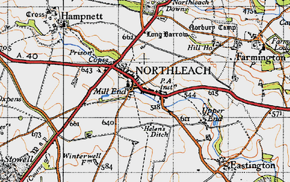 Old map of Winterwell Barn in 1946