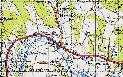 Old map of Mill End in 1947