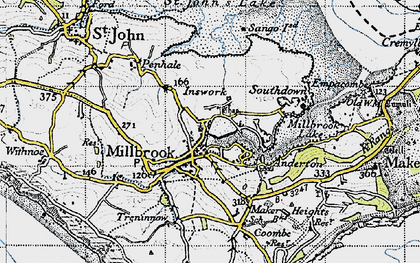 Old map of Millbrook in 1946