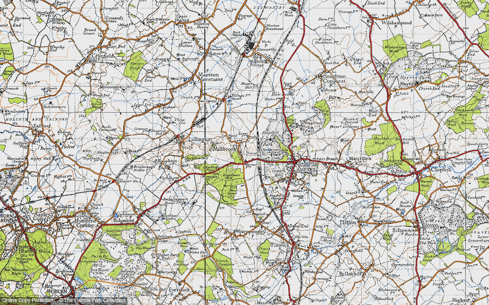 Old Map of Millbrook, 1946 in 1946