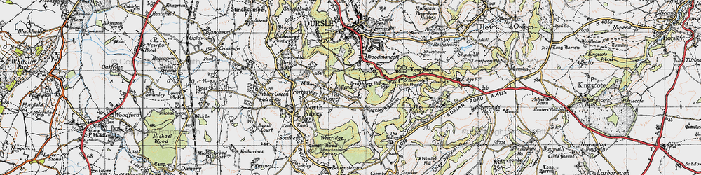 Old map of Whiteway in 1946