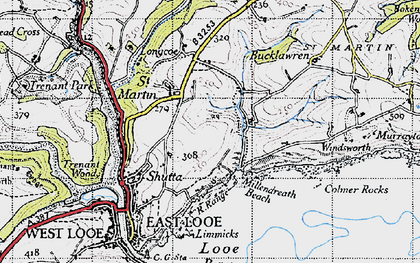 Old map of Millendreath in 1946