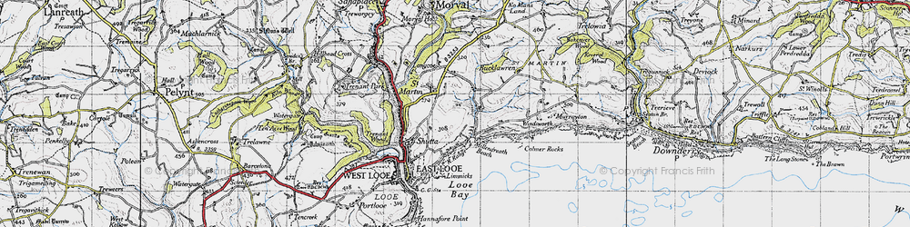 Old map of Windsworth in 1946