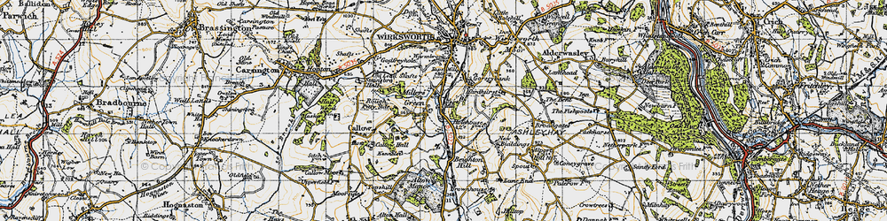Old map of Alton Manor in 1946