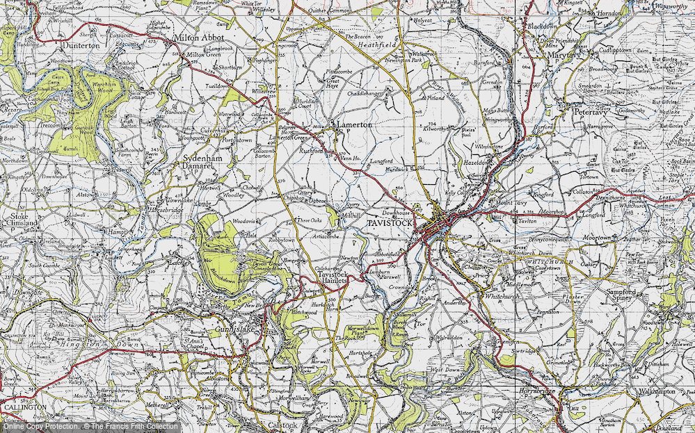 Old Map of Historic Map covering Artiscombe in 1946