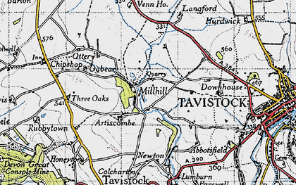 Old map of Artiscombe in 1946