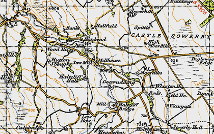 Old map of Bankend in 1947